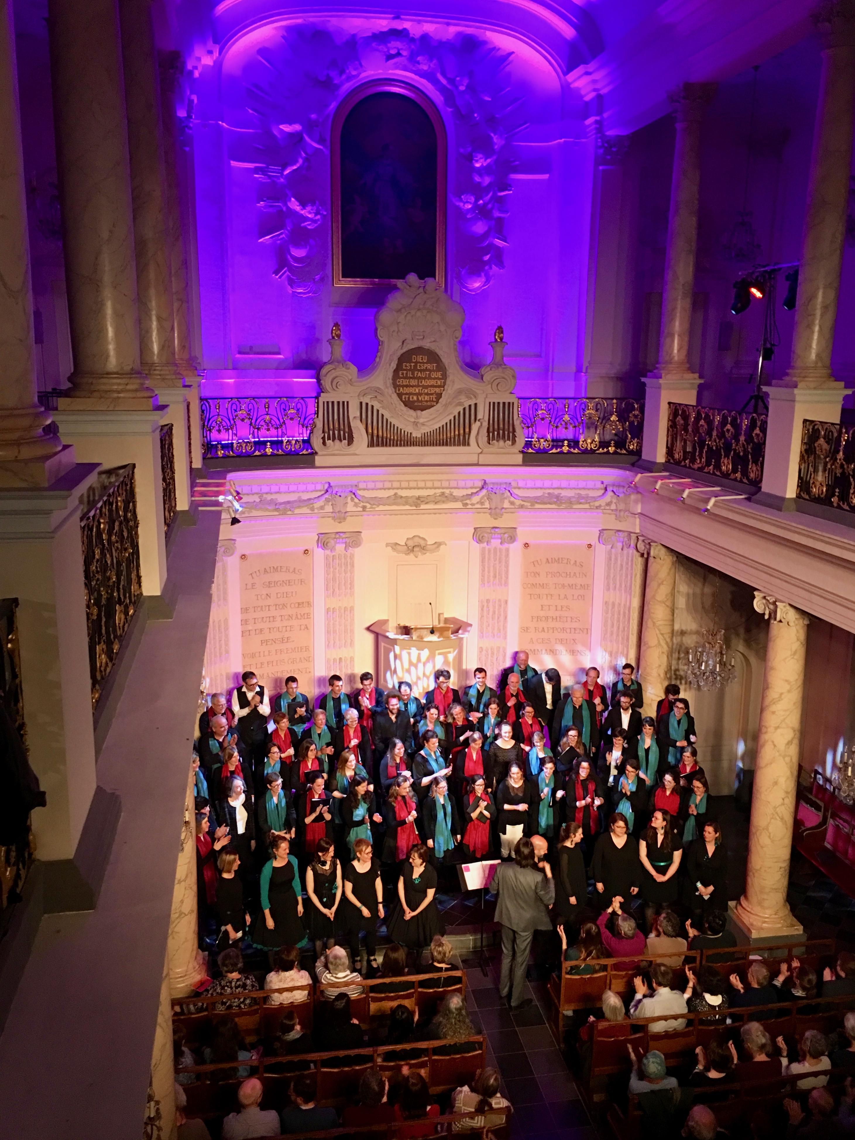 Concert de 3 chorales, Chapelle Protestante de Bruxelles