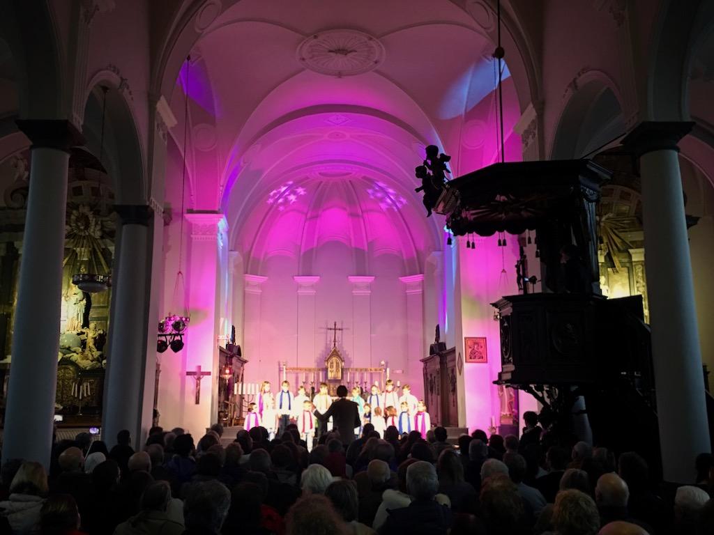 Concert d'une chorale, église de Linkebeek