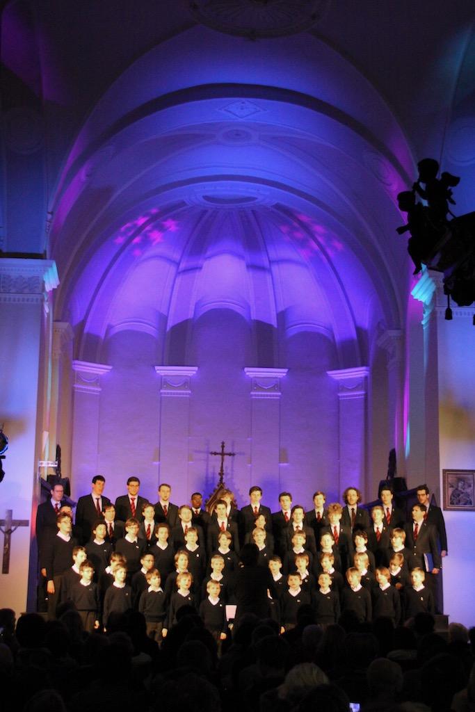 Concert des Petits Chanteurs du Collège Saint-Pierre, église de Linkebeek